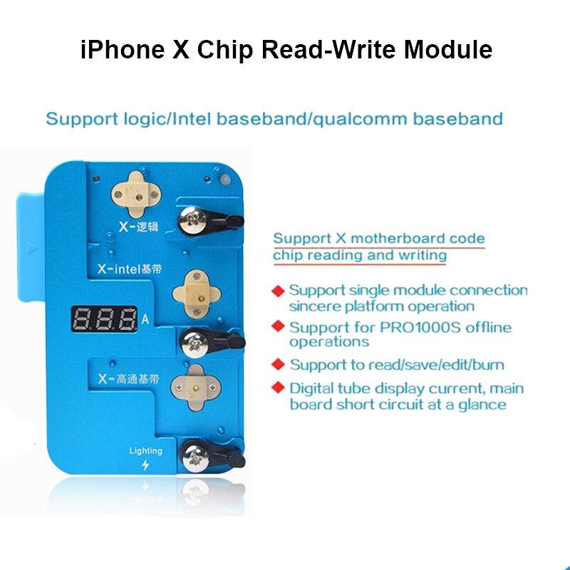 Jc pro1000s lógica baseband eeprom ic chip programador para iphone x microplaquetas ler/escrever suporte leitura economia edição queima