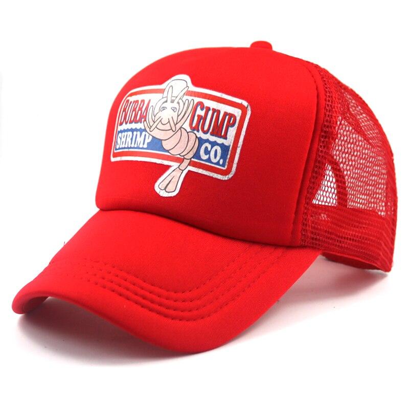 Модная кепка для косплея Gump Recover, сетчатая регулируемая бейсболка, спортивные шапки BUBBA GUMP, Летние Повседневные шапки, cheapu