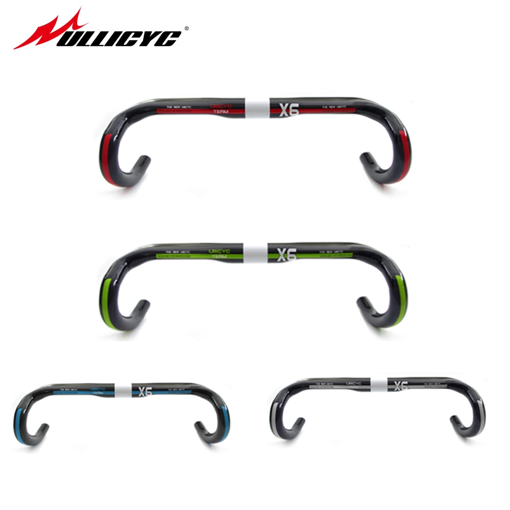 ULLICYC Road carbon Handlebar Bike Cycling Handlebar bicycle handlebar UD Carbon Bar Bike Accessories 440/420/400mm   WB233