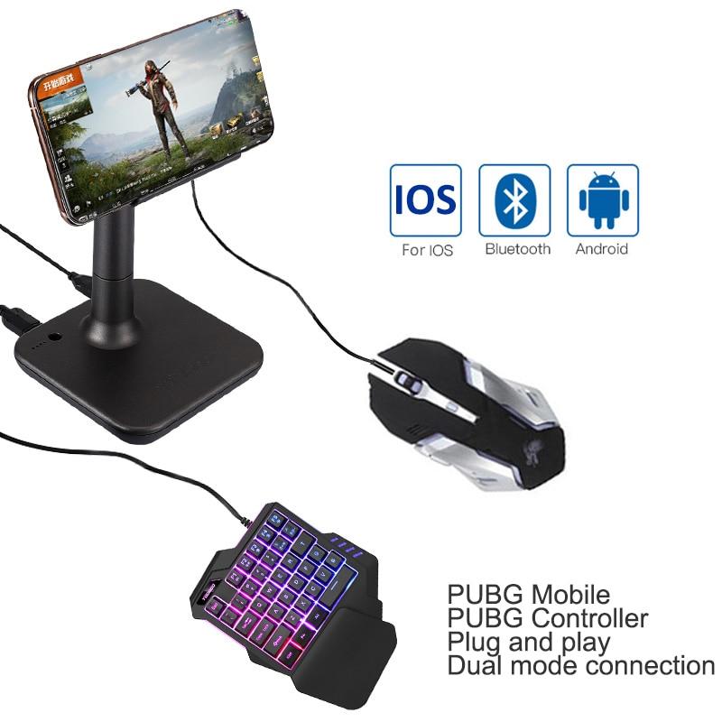 G3 Pubg Gamepad para ios PUBG móvil Android PC Bluetooth teclado USB conversor de ratón para iPad Plug and Play