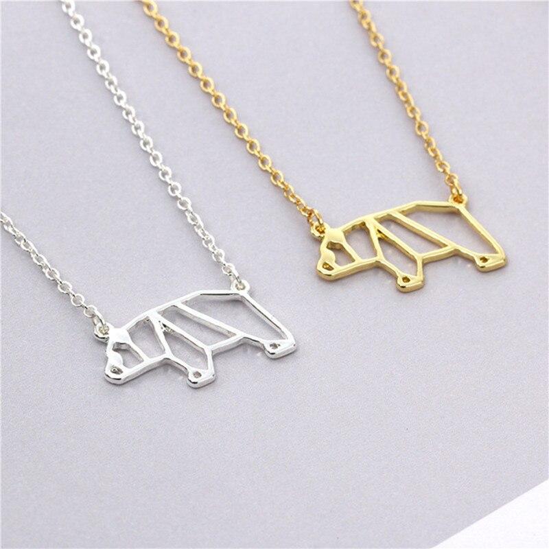 30PCS Origami Panda Necklace Mama Polar Cali Sea Bear Necklace Cute Pet Dog Pig Koala Necklaces for Paper Animal Bruin Gift