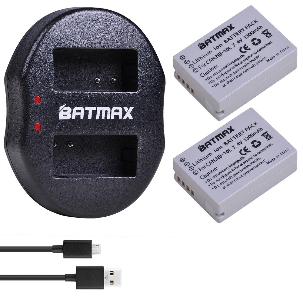 2 шт., аккумуляторные батареи для камеры NB-10L NB 10L NB10L + двойное зарядное устройство с usb-кабелем для Canon PowerShot SX40 HS SX40 z2