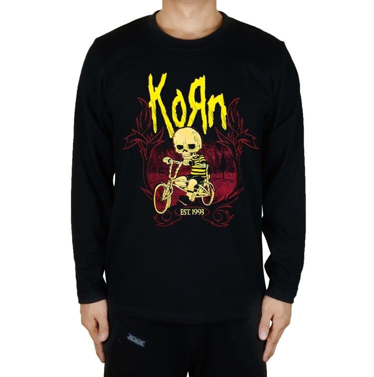14 desenhos harajuku bonito crânio bicicleta camiseta karn rock marca completa camisa de manga longa fitness hardrock metal pesado streetwear