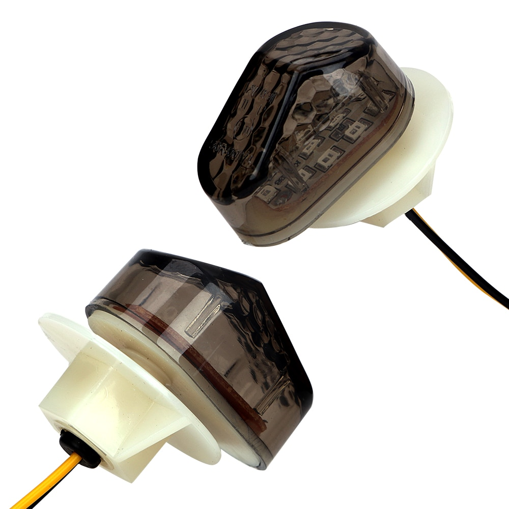 2 unids/set de luz indicadora, accesorios de motocicleta para luces de señal de giro, luz intermitente Universal