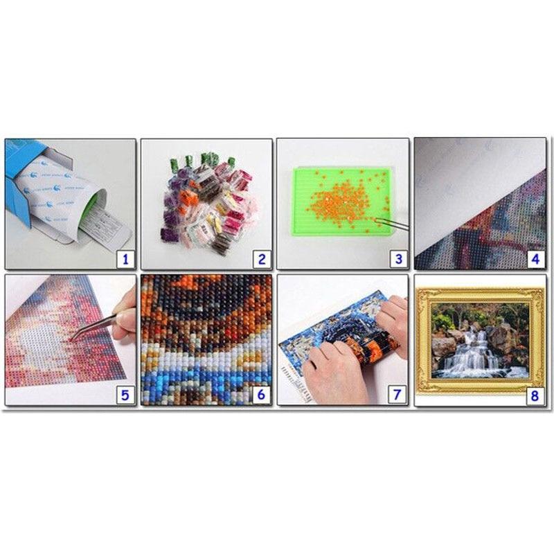 White tiger lotus diamond Embroidery diy diamond painting mosaic diamant painting 3d cross stitch pictures H501