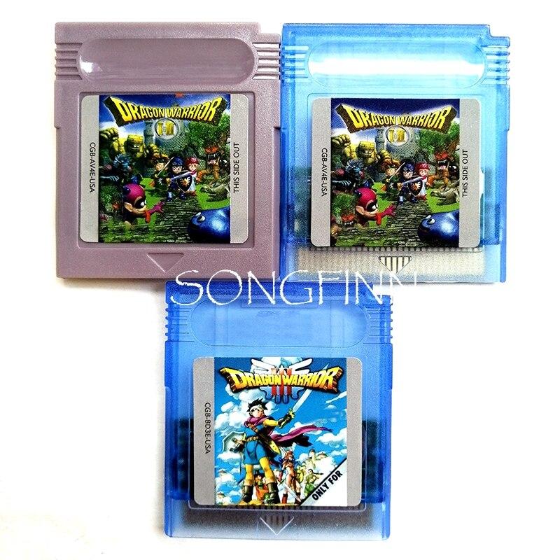 Dragon Warrior 1 + 2 3 di Memoria Della Cartuccia per 16 Bit Handheld Video Console di Gioco Accessori di Carta di