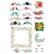 2 unids/lote tablero de flores de decoración álbum de recortes bala diario pegatinas de papelería cartel del planificador artesanía de Patchwork suministros