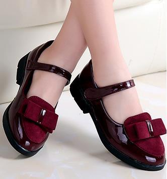 Niños princesa zapatos de cuero PU 3 colores casual bebé flor Rosa niñas moda Zapatos de marca ninos envío gratis 668