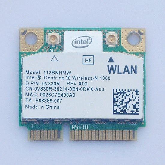 Envío Gratis 112BNHMW 0V830R para Dell Alienware M14X Intel Centrino Wireless-N 1000 BGN 300mbps mini PCI-E tarjeta Wifi