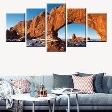 Toile darches imprimées dart   Affiche de paysage de parc National, affiche nordique, peinture murale, décoration murale de maison, pas de cadre 5 panneaux