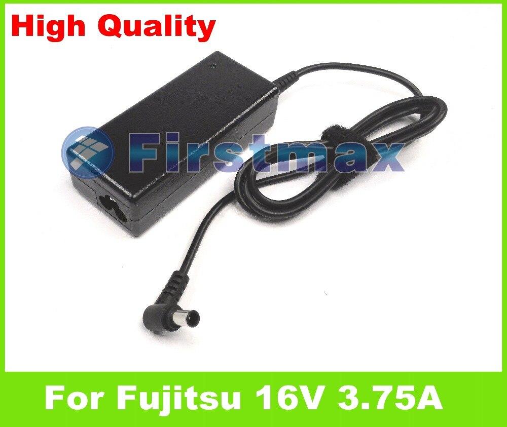 16 V 3.75A 60 W AC adaptador cargador portátil para Fujitsu LifeBook P8010 P8020 P8210 P8230 P8240 Q2010 S2110 S6000 s6000D S6240 T2010