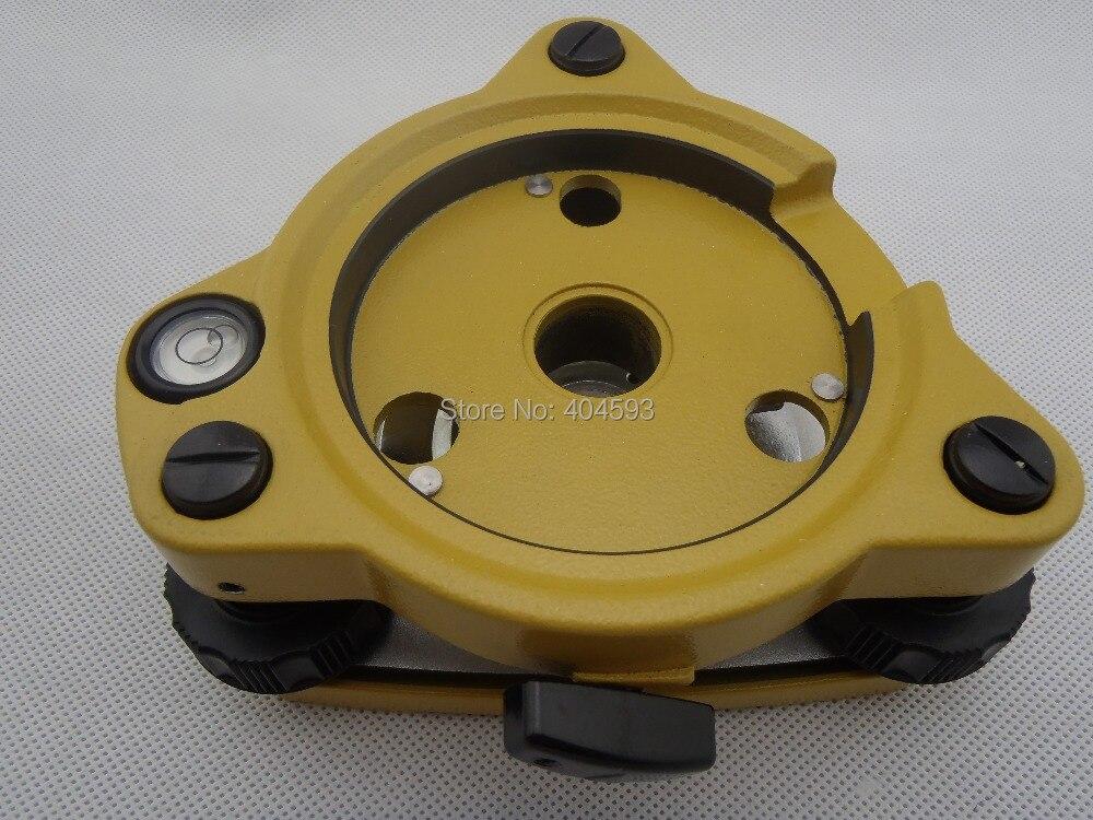 Yellow Tribrach Without Optical Plummet BRAND NEW . YELLOW THREE-JAW