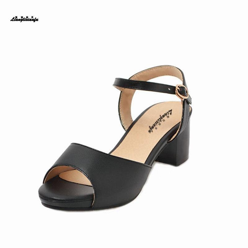 Sandalias femeninas elegantes con hebilla de Metal, zapatos de fiesta para Novia...