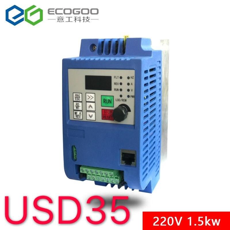 1.5KW/2.2KW 220 V AC Inversor De Freqüência Variável Conversor Conversor VFD inversor Controlador de Velocidade para motor CNC Frete grátis