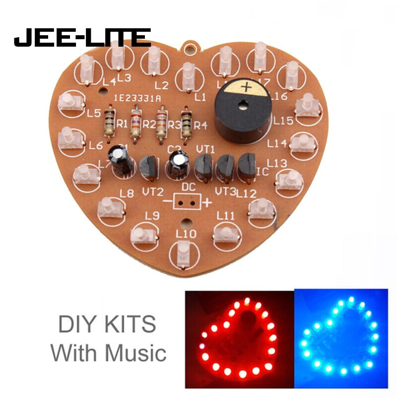 LSD-73 DIY electrónica LED Falshing luces de soldadura práctica placa PCB Kit DIY Kits luces intermitentes LED módulo paquete de electrónica