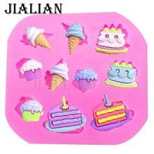 Cônes gâteau glace crème glacée   Gâteau en chocolat, outils de décoration, bricolage pâtisserie bonbons confeitaria patisserie, moule fondant silicone T0372