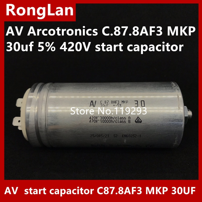 [BELLA] [Original new] AV Arcotronics C.87.8AF3 MKP 30uf 5% 420V start capacitor