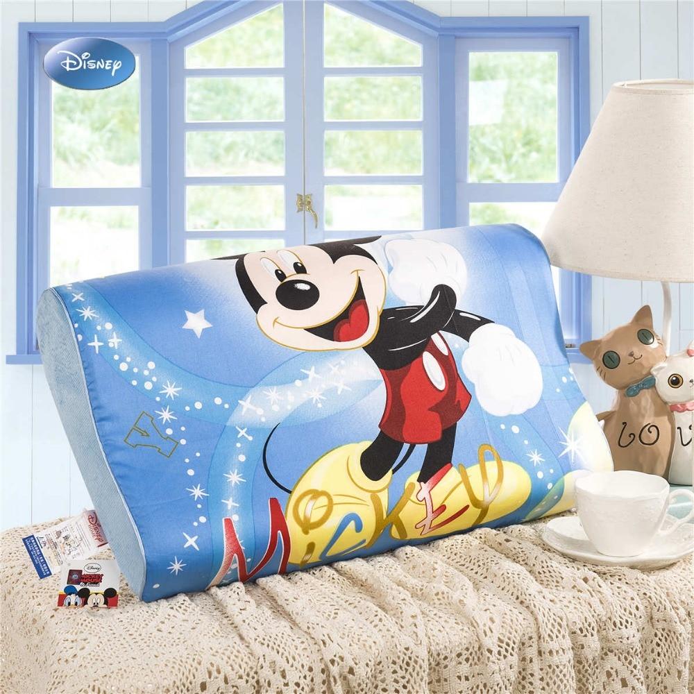 وسادة نمط ميكي ماوس الكرتونية ، ألياف بوليستر ، رغوة ، بطيئة الارتداد ، رقبة ، نوم عنق الرحم ، رعاية صحية ، أزرق ، للأطفال
