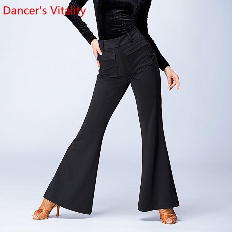 Mujer Lady Pantale diseño Original para danza cuadrada señora zapatos de baile latino salón de baile femenino pantalones de danza moderna S-XXL