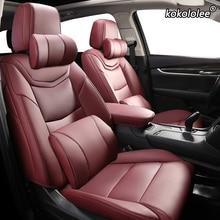 Kokololee الجلود المخصصة سيارة غطاء مقعد ل كزس LX570 LX500 LX450 RC300 RC200 UX200 UX260h UX250h سيارات غطاء مقعد s