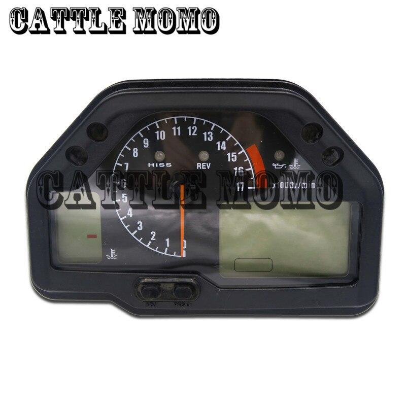 Acessórios da motocicleta odômetro velocímetro tacômetro para honda cbr600rr f5 2003 2004 2005 2006 moto odômetro calibre