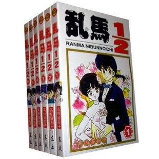 Conjunto completo de 6 libros, NIBUNNOICH 1/2 RANMA, cómic de Manga para jóvenes japoneses, nuevo Edición China de China