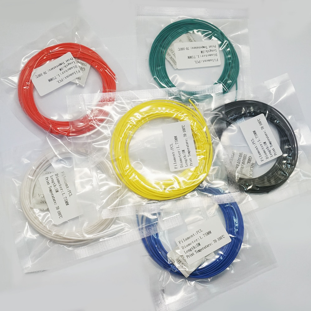 3D Printer Filament PCL 1.75 10 Meters 3D Pen Filament Plastic PCL Wire for Low Temperature Cheap 3D Printers Filament Extruder