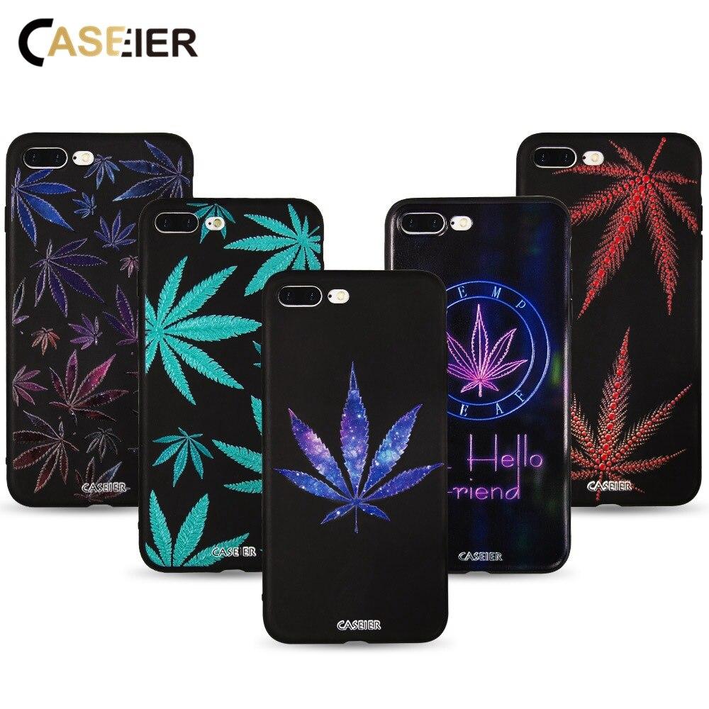 CASEIER fundas de teléfono de hojas coloridas para iPhone 6 7 6s 8 Plus X XR XS 3D Relif funda de teléfono para iPhone 11 Pro Max 11 funda de TPU suave