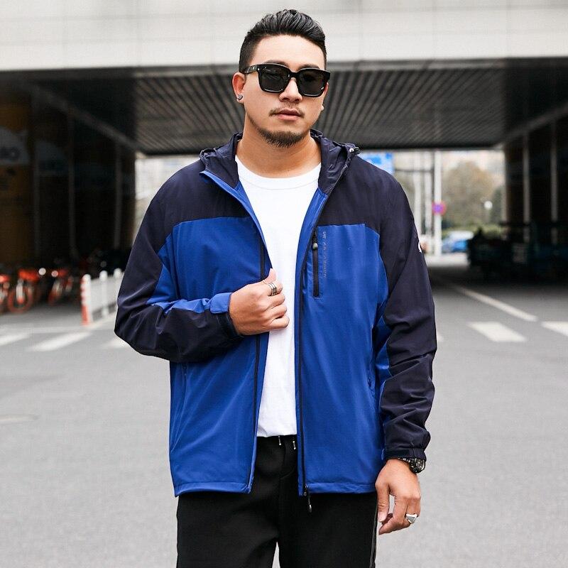 2019 NEW Spring Autumn Men Hoodies Sweatshirt Plus Hooded Jacket Tracksuit print  Mens Big Large Size 7XL 8XL Cash on Delivery