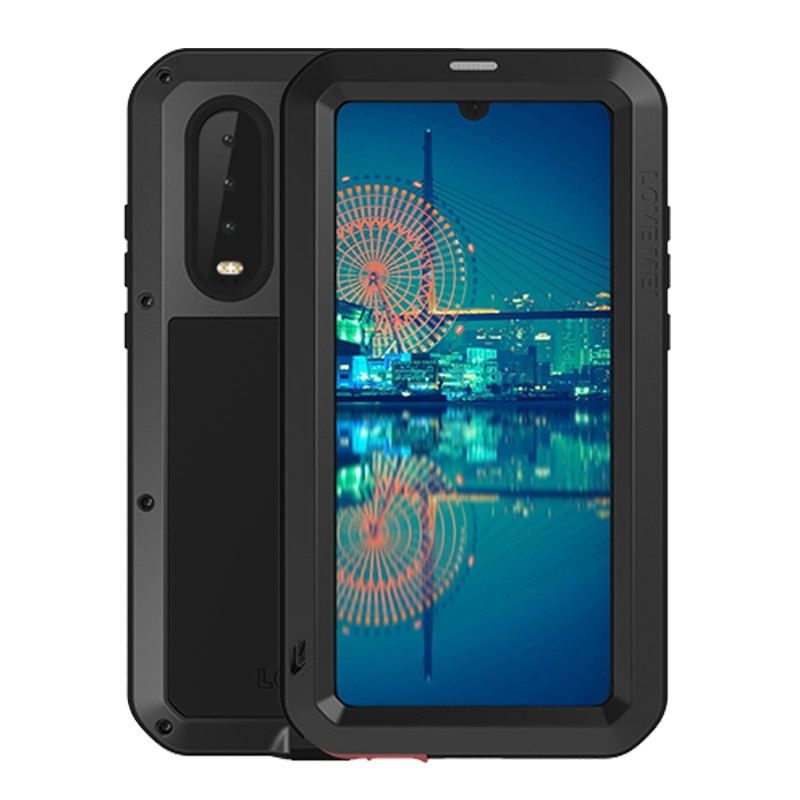 Para Huawei P30 Lite gorila película de vidrio Heavy Duty protectora resistente al agua funda para Huawei P30 Pro a prueba de choques de la armadura de Metal cubierta