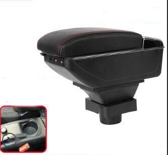 Caja de almacenamiento de consola central para Citroen C4 Hatchback 2010 2011 apoyabrazos reposabrazos giratorio