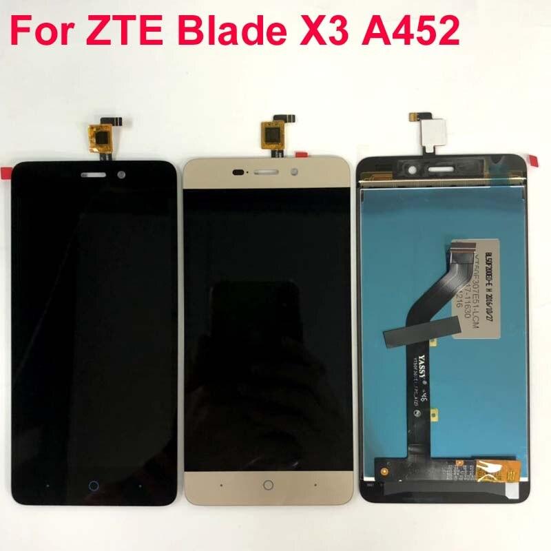 Original negro/blanco/oro LCD + TP para ZTE Blade X3 D2 A452 pantalla LCD con pantalla táctil digitalizador Smartphone reemplazo
