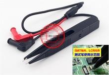 NEWACALOX Multi SMD inducteur Clip de Test sonde pince à épiler résistance numérique multimètre LCR condensateur mètre fil stylo câble aiguille pointe