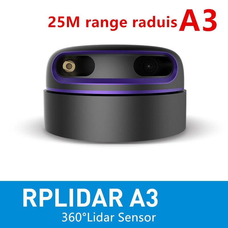 Slamtec rplidar a3 2d 360 graus 25 medidores de varredura raio lidar sensor para evitar obstáculos e navegação do uav agv