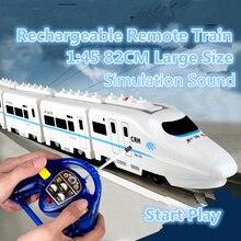 Enfants RC jouets 757P-006 15 1/20 roue omnidirectionnelle CRH chine locomotive électrique à télécommande train à grande vitesse