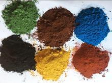 Polvo de pigmento inorgánico de óxido de hierro negro marrón amarillo verde azul o naranja