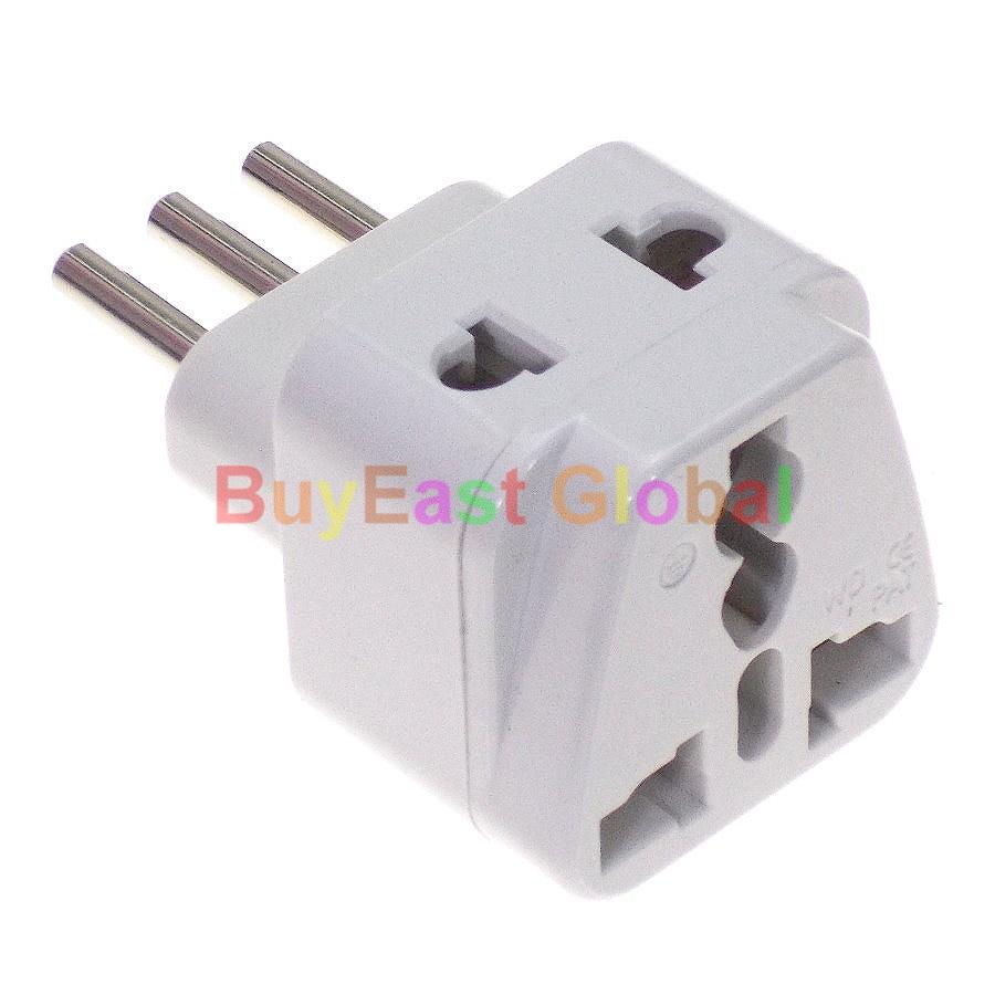 (1 Ud.) adaptador de enchufe eléctrico Universal a italiano (salida de 2...