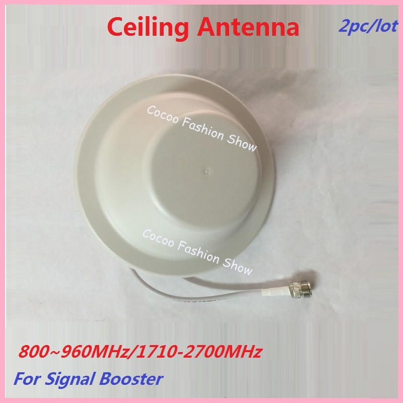 Zqtmax 2pc 2g 3g 4g antena 800-2500 mhz n-macho para 900 1800 2100 repetidor móvel do impulsionador de sinal gsm dcs