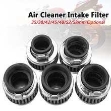 Filtre dadmission pour Honda/Kawasaki/Yamaha   Filtre à Air de 35/42/48/52mm, Moto Pit Bike, filtre en acier inoxydable pour Honda/Kawasaki/Yamaha Moto