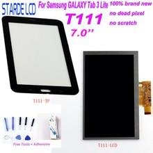 STARDE LCD pour Samsung Galaxy Tab 3 Lite T111 SM-T111 3G Version LCD écran tactile numériseur sens avec des outils gratuits Adhens