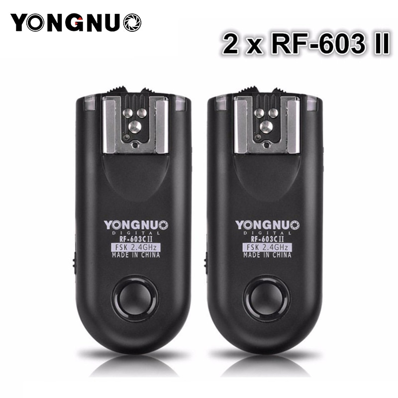 YONGNUO 2pcs RF-603 II Flash Trigger Transceiver Set ,Shutter Release for Canon Nikon Pentax DSLR Camera RF-603 II C1 C3 N1 N3