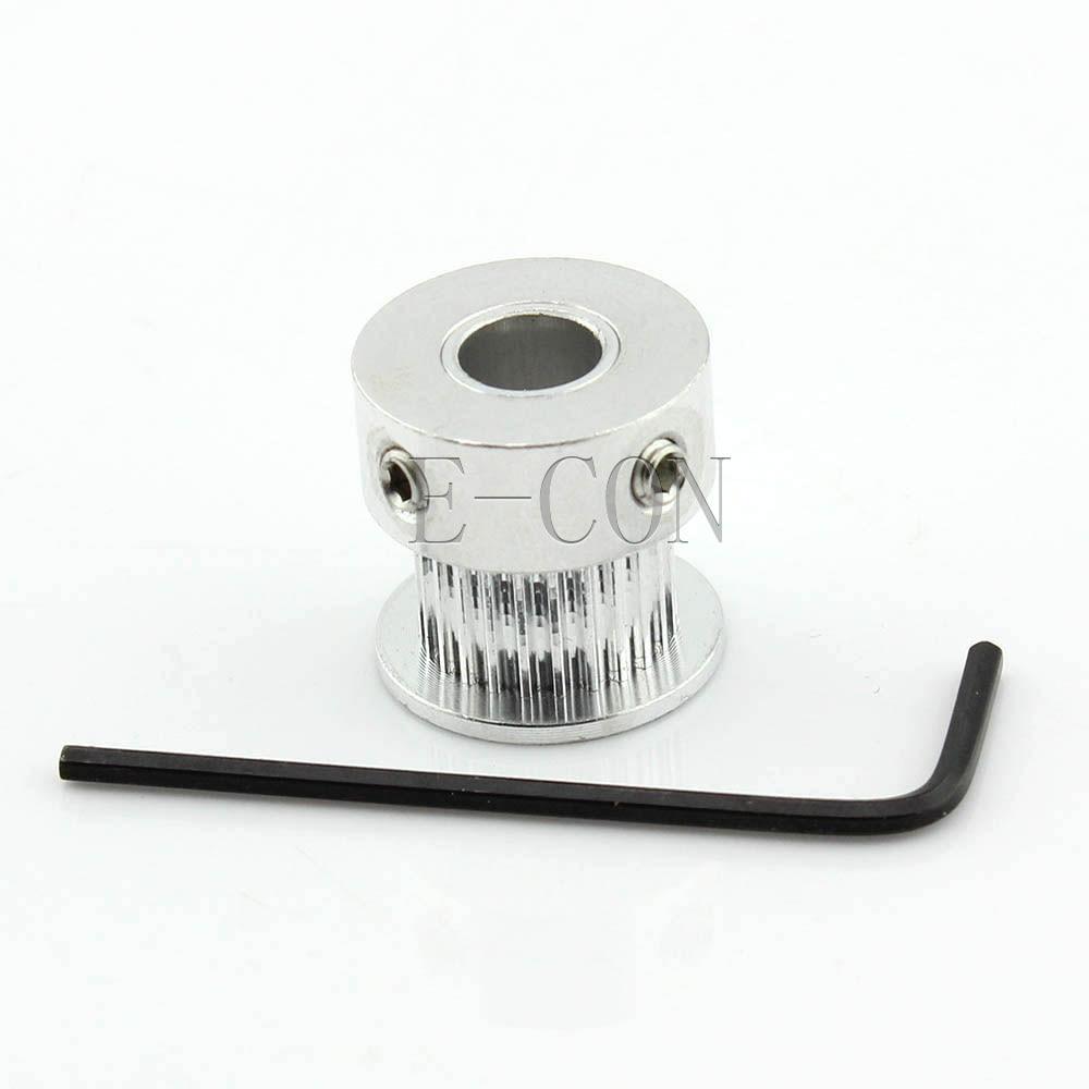 100 قطعة/الوحدة GT2 توقيت بكرة 24 الأسنان الوميوم تتحمل 8 مللي متر الأسنان العرض 10 مللي متر ل عرض 9 مللي متر GT2 توقيت حزام و 3D طابعة موتور CNC