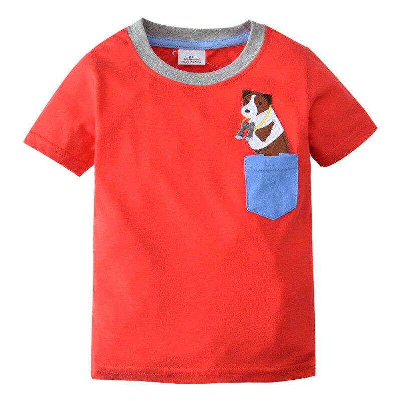 Camiseta de estrella impresa para niños y bebés Jumping meters, camiseta de verano para niños, camisetas de manga corta, tops, ropa de algodón puro para niños