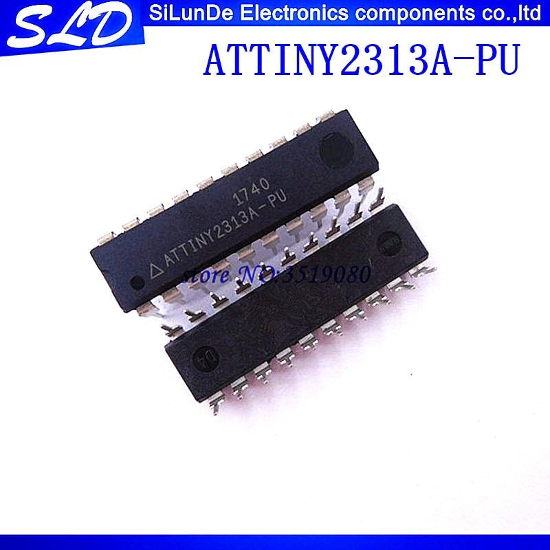 2 unids/lote ATTINY2313A-PU ATTINY2313 DIP20 MCU 8-poco mcus AVR RISC 2KB Flash 2,5 V/3,3 V/5 V 20-Pin DIP