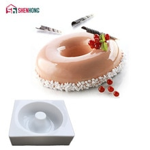 SHENHONG Runde Donuts Kuchen Form Pan 3D Kunst Silikon Form Mousse Silikonowe Schokolade Moule Backen Moule