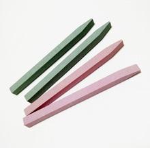 2 pièces pierre lime à ongles tampon bloc de ponçage en forme de V blocs de meulage des ongles moudre sable Nail Art pédicure manucure outil de beauté
