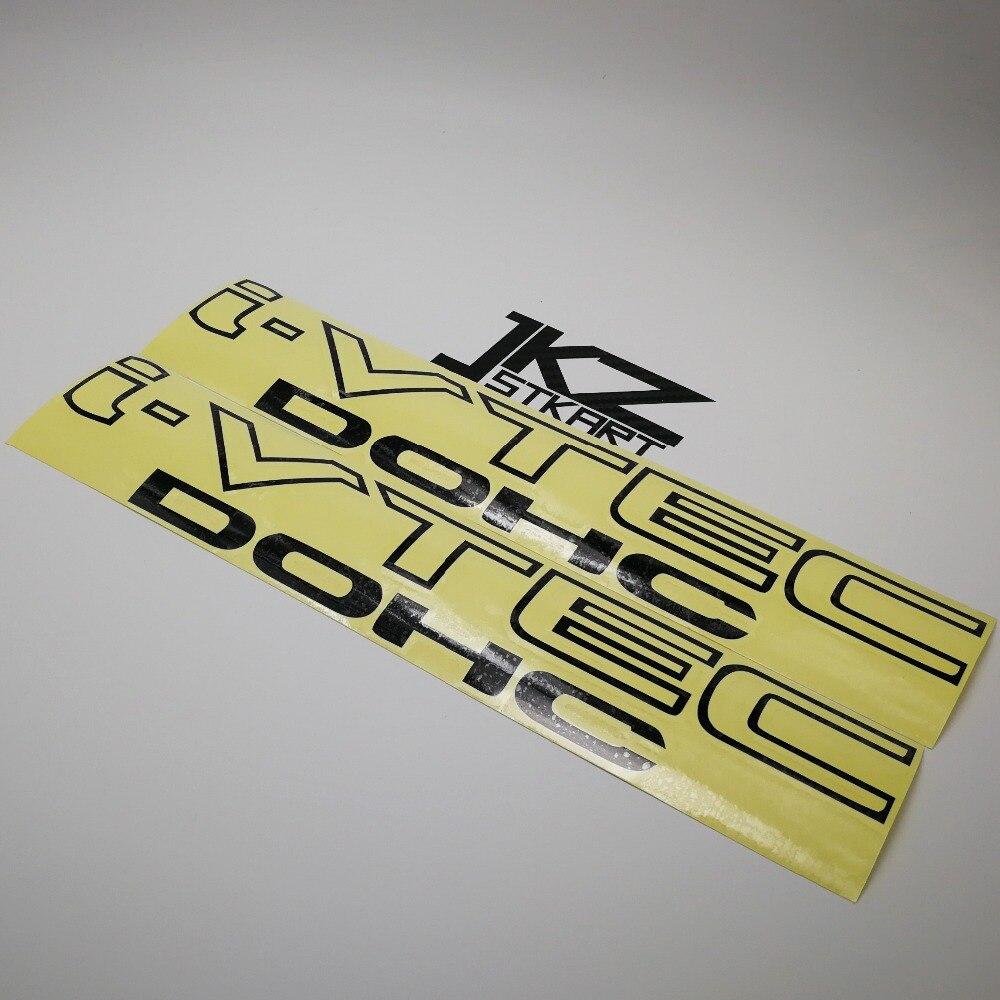 Jkz stkart 2 pa vinil cortado adesivos de carro decalques i vtec dohc 25x5.5 cm motor bicicleta caminhão capacete decorado adesivos