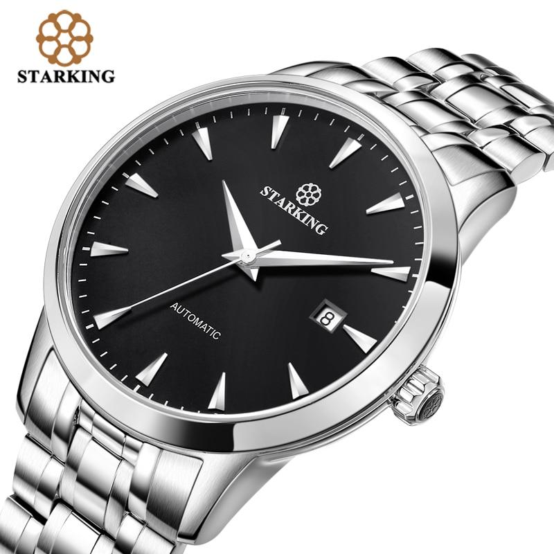 Original Starking Luxury Brand Watch Men Automatic Self-wind Stainless Steel 5atm Waterproof Business Men Wrist Watch Timepieces