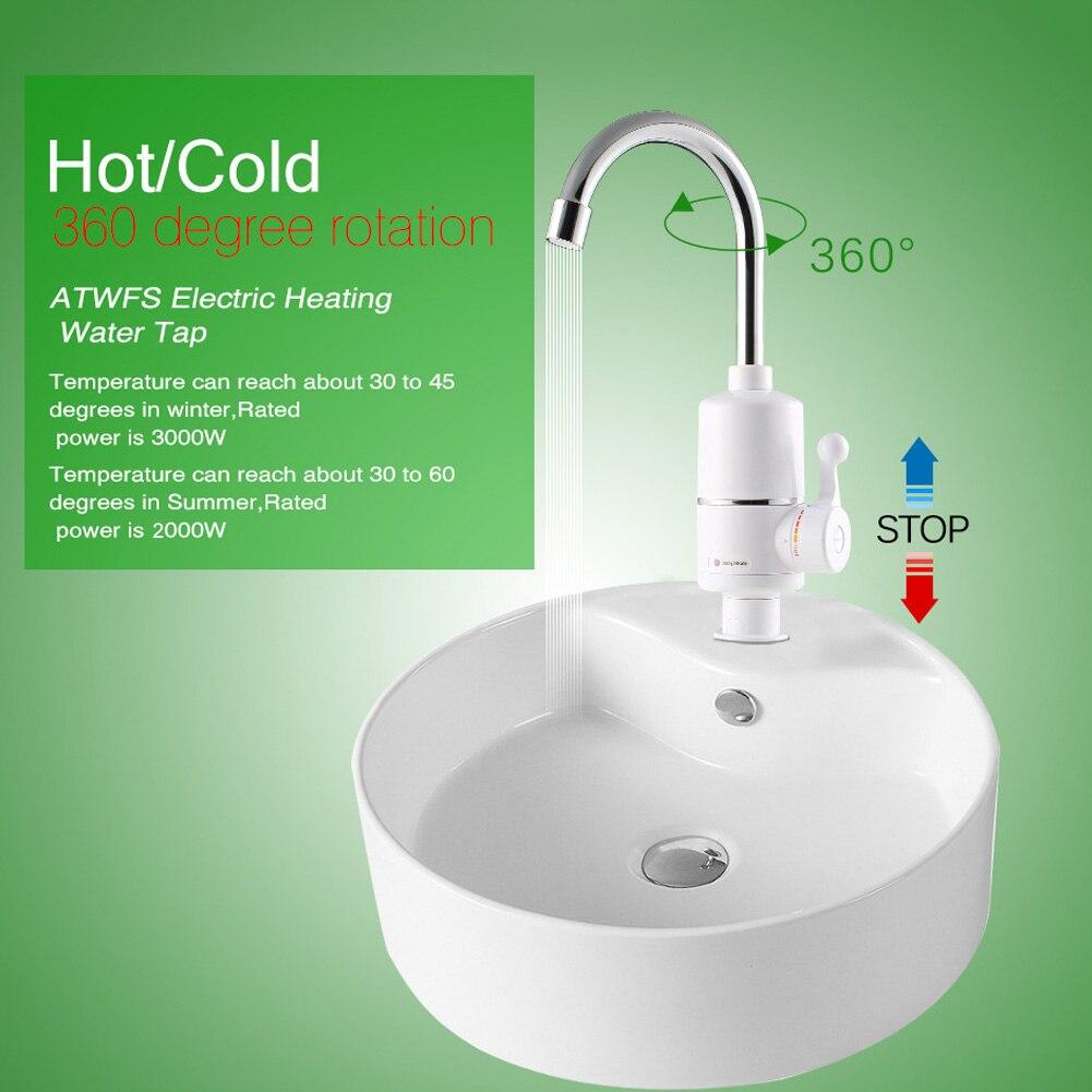 1 uds, grifo eléctrico, calentador instantáneo de agua caliente para el Hogar, baño, cocina, estándar europeo HTQ99
