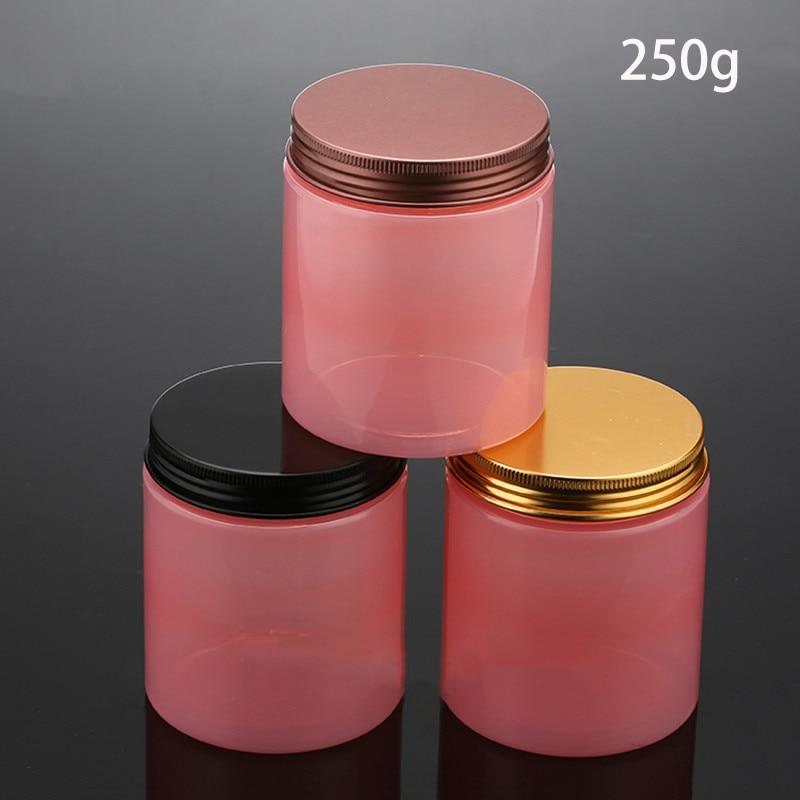250g الوردي مرطبان مستحضرات تجميل اليدوية سنفرة للجسم غسول كريم الحاويات العناية بالبشرة الحلوى مستحضرات التجميل التعبئة والتغليف شحن مجاني